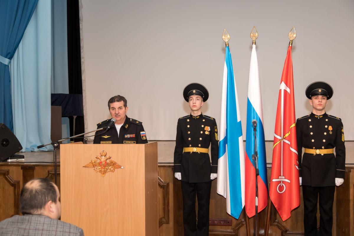 Начальник военно-морского Нахимовского училища контр-адмирал Алексей Суров