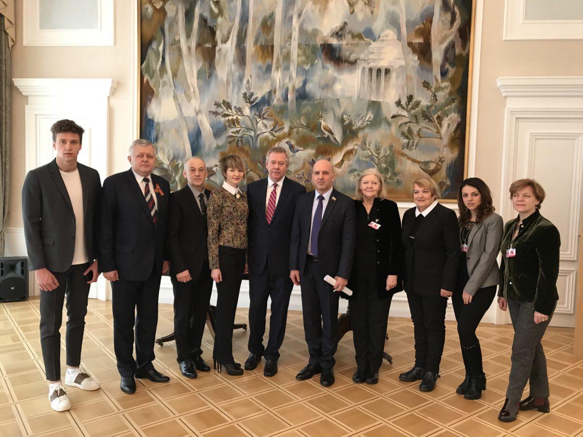 Участники круглого стола «Установление судеб пропавших без вести защитников Отечества» в Постоянном представительстве России при Отделении ООН
